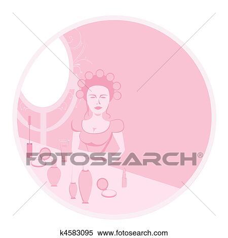Archivio Illustrazioni Estetista K4583095 Cerca Clipart Disegni
