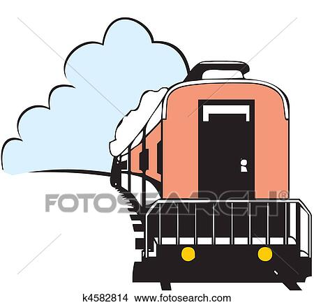 desenhos estrada ferro viagem k4582814 busca de ilustrações