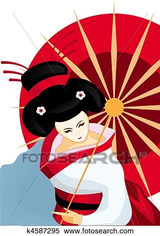 Top Giapponese, geisha Archivio Illustrazioni | k4587295 | Fotosearch AF85