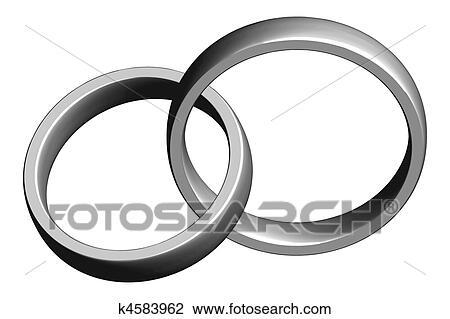 Clip Art Hochzeit Ringe K4583962 Suche Clipart Poster