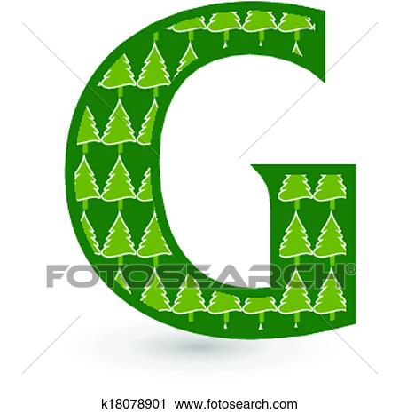 clipart of letter g christmas tree k18078901 search clip art rh fotosearch com small letter g clipart