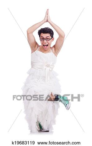 Mann im kleid lustig