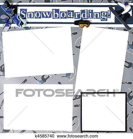stock photography snowboard theme scrapbook frame template fotosearch search stock photos pictures