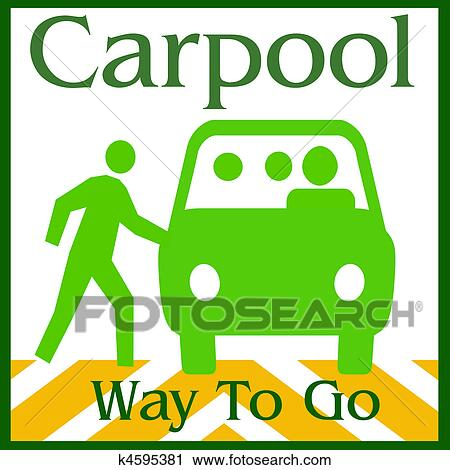 clipart of carpool way k4595381 search clip art illustration rh fotosearch com