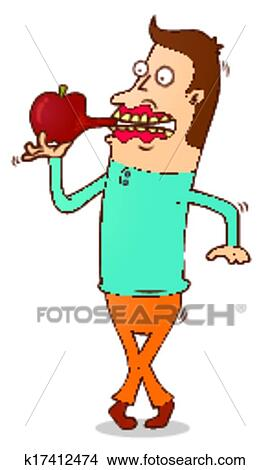 Eating Apple Clipart