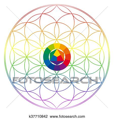 Fleur De Vie Bouddhisme Chakra Illustration Dessin