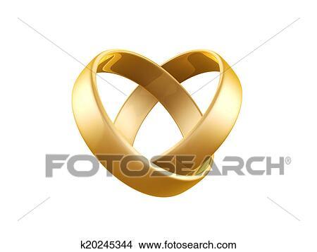 Zeichnungen Goldene Hochzeit Ring K20245344 Suche Clip Art