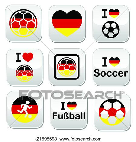 Clip Art Of I Love German Football Soccer Butt K21595698 Search