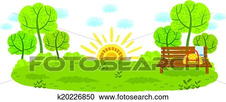 clipart of the view of grassland k20226850 search clip art rh fotosearch com grassland climate biome grassland climate zone