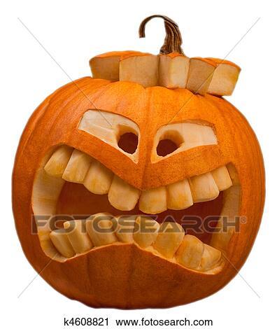 Pompoen Voor Halloween.Halloween Pompoen Stock Afbeelding