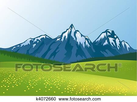 Montagne Fond Clipart K4072660 Fotosearch