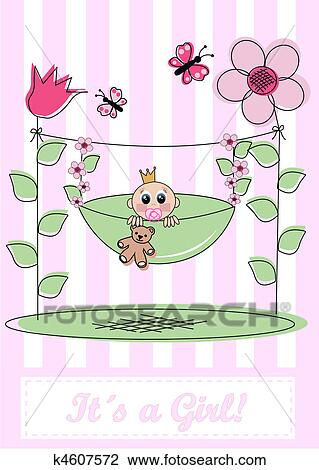 clipart newborn baby card fotosearch search clip art illustration murals drawings - New Born Baby Card