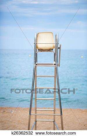Stock Photo   The Lifeguard Chair On The Beach. Fotosearch   Search Stock  Photography,