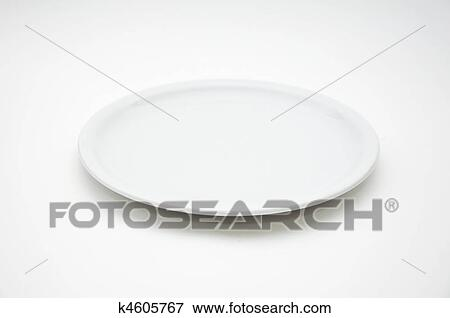 Picture Of White Empty Plate K4605767 Search Stock Photography