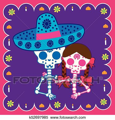 Clipart Of Couple Day The Dead K52697985