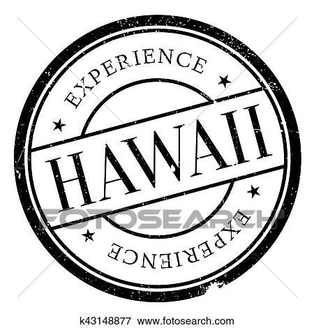 Stock Illustration Of Hawaii Stamp Rubber Grunge K43148877