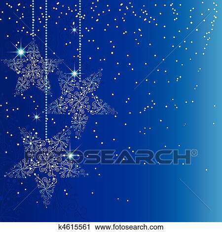 clipart blau weihnachten stern verzierungen k4615561. Black Bedroom Furniture Sets. Home Design Ideas
