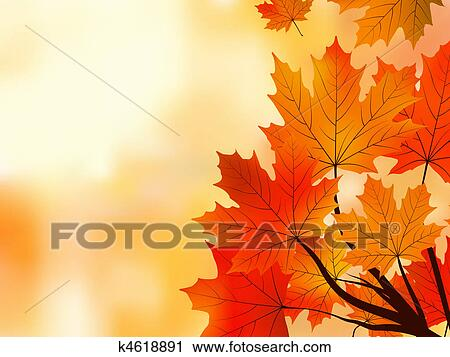 Red Fall Maple Tree Leaves Shallow Focus Clipart K4618891 Fotosearch