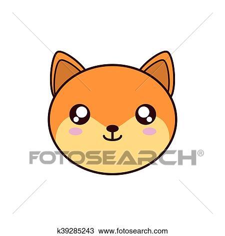 Clipart Renard Kawaii Mignon Animal Icône K39285243