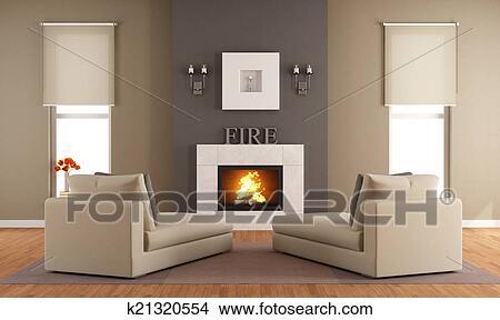 Disegni contemporaneo soggiorno con caminetto k21320554 cerca