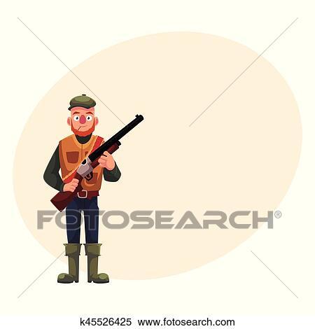 Divertente cacciatore in caccia canottiera e caricamenti