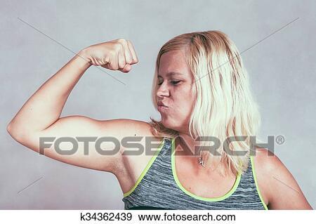 Colección de fotografía - fuerte, muscular, deportivo, mujer ...
