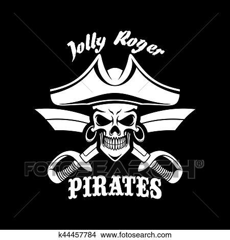 Clipart Pirates Noir Vecteur Drapeau A Roger Gai Symbole