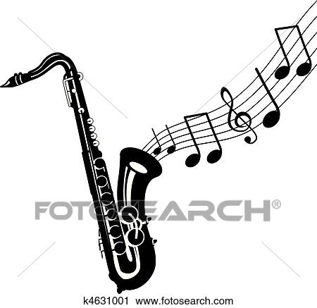clipart of saxophone k4631001 search clip art illustration murals rh fotosearch com saxaphone clipart saxophone clipart free