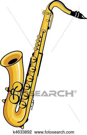 clipart of saxophone k4633892 search clip art illustration murals rh fotosearch com saxophone clipart png saxophone clip art free