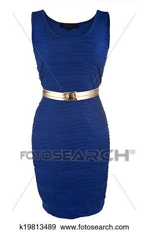 Vestido azul i dorado