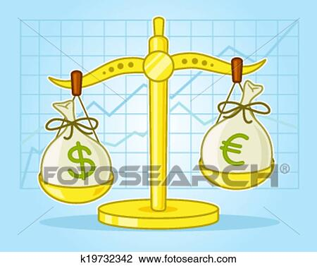 Clipart Of Currency Exchange K19732342 Search Clip Art