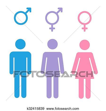 Clip Art Of Gender Symbols Set K32415839 Search Clipart