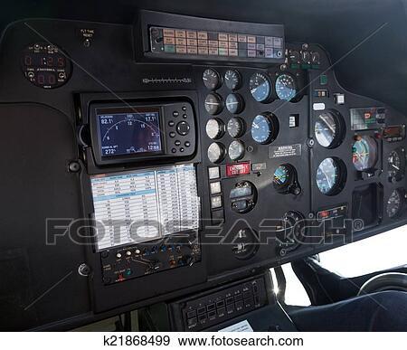 Banque de Photographies - poste pilotage, de, hélicoptère k21868499 ...