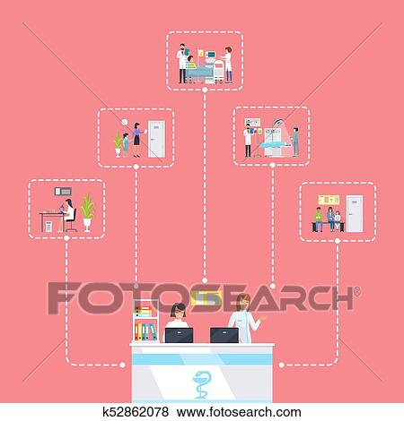 Reception and Connected Pictures Vector Illustration Clip ...
