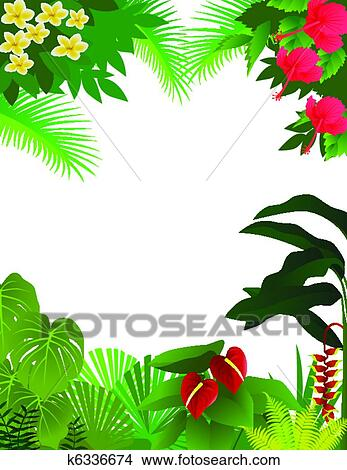 clipart of tropical rainforest background k6336674 search clip art