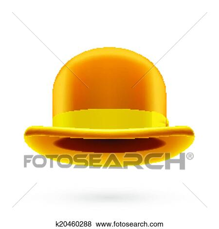 Clip Art of Yellow bowler hat k20460288 - Search Clipart ... c142421387e