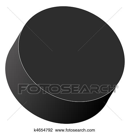 clip art of hockey puck k4654792 search clipart illustration rh fotosearch com hockey puck clipart free Hockey Stick Clip Art