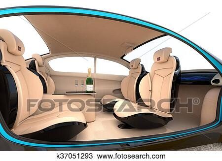 Drawing Of Luxury Car Interior Concept K37051293 Search Clipart