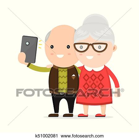Old Man And Woman Grandmother Clipart K51002081 Fotosearch