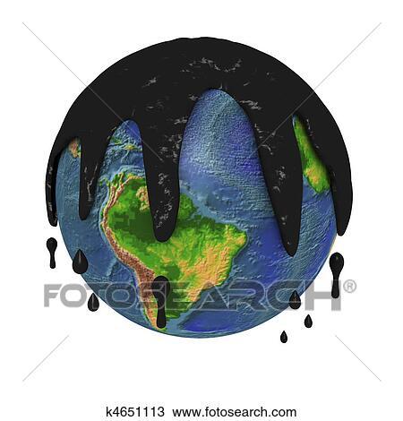 Dessin Pollué Terre Planète K4651113 Recherchez Des Cliparts