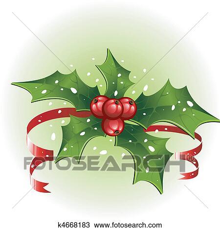 Christmas Holly Vector.Christmas Holly Clipart