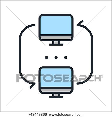 clip art of lan network icon color k43443866 search clipart rh fotosearch com network clipart images network clipart png