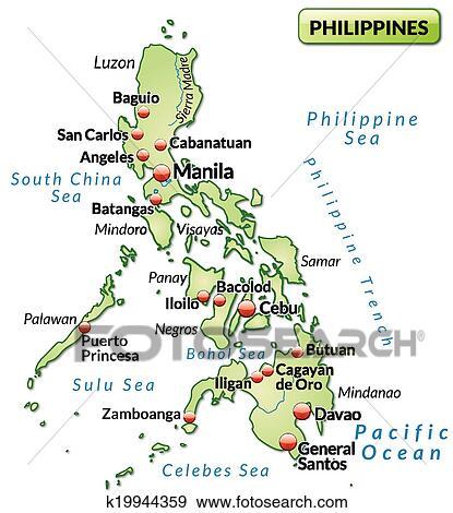 philippinen landkarte
