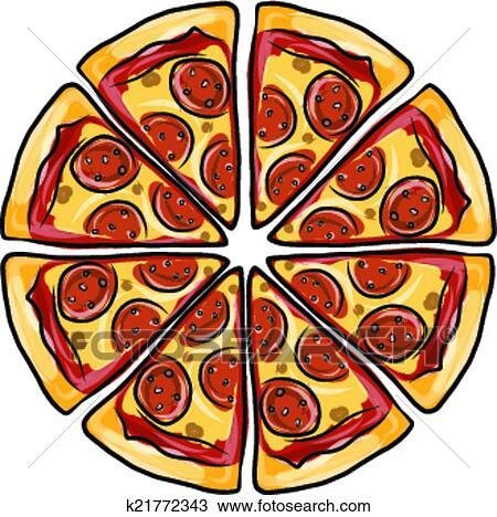 Clipart Pezzi Di Pizza Schizzo Per Tuo Disegno K21772343