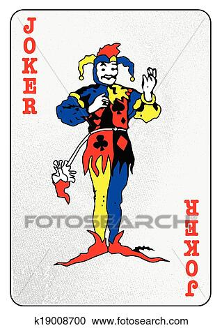 Clipart Of The Joker Card K19008700 Search Clip Art Illustration