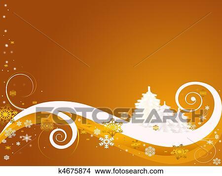 待ち受けている クリスマス イラスト K4675874 Fotosearch