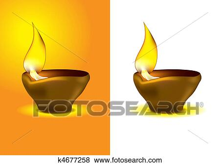 Stock Illustration Of Diwali Diya