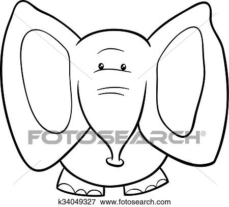 Elefant Karikatur Ausmalbilder Clip Art