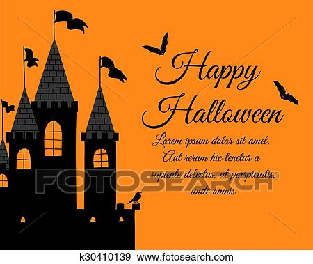 Clip art of halloween greeting card k30410139 search clipart clip art halloween greeting card fotosearch search clipart illustration posters drawings m4hsunfo