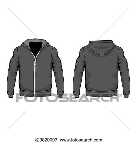 Stock Illustration Of Men S Hoodie Shirts Template Front And Back